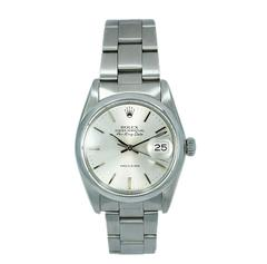 Rolex Steel Air King Date Oyster Perpetual Automatic Wristwatch