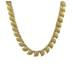 Buccelati Yellow and White Gold Necklace