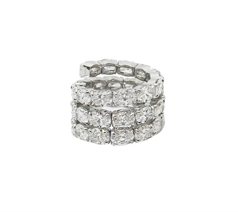 18 80 carat oval spiral white gold ring for sale