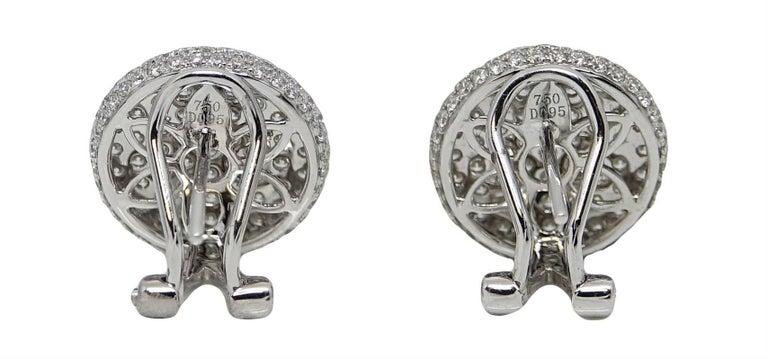 1.90 Carat Diamond Button White Gold Earrings 3