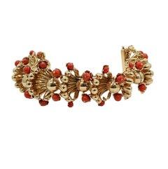 Coral Fashion Yellow Gold Bracelet