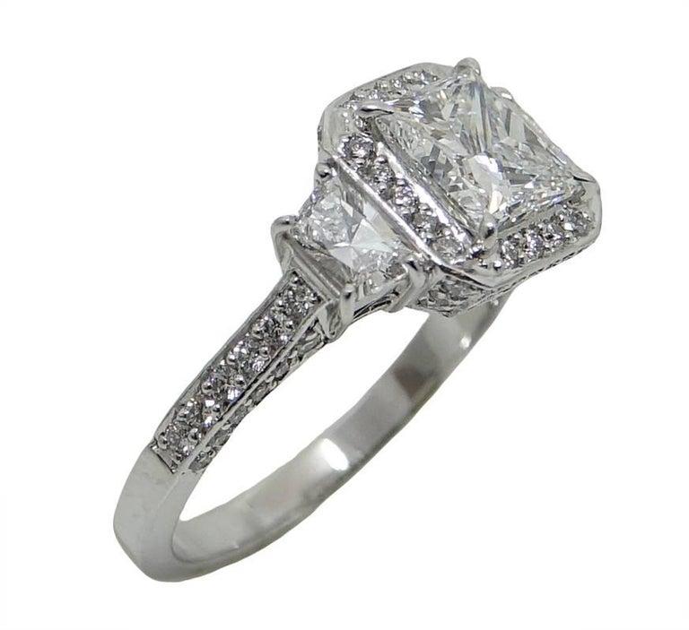 1 52 carat certified princess cut platinum