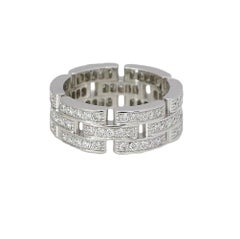 Cartier Panther White Gold 3-Row Ring with 1.37 Carat in Diamonds