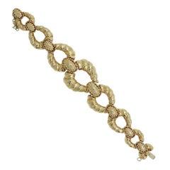David Webb Yellow Gold Link Bracelet
