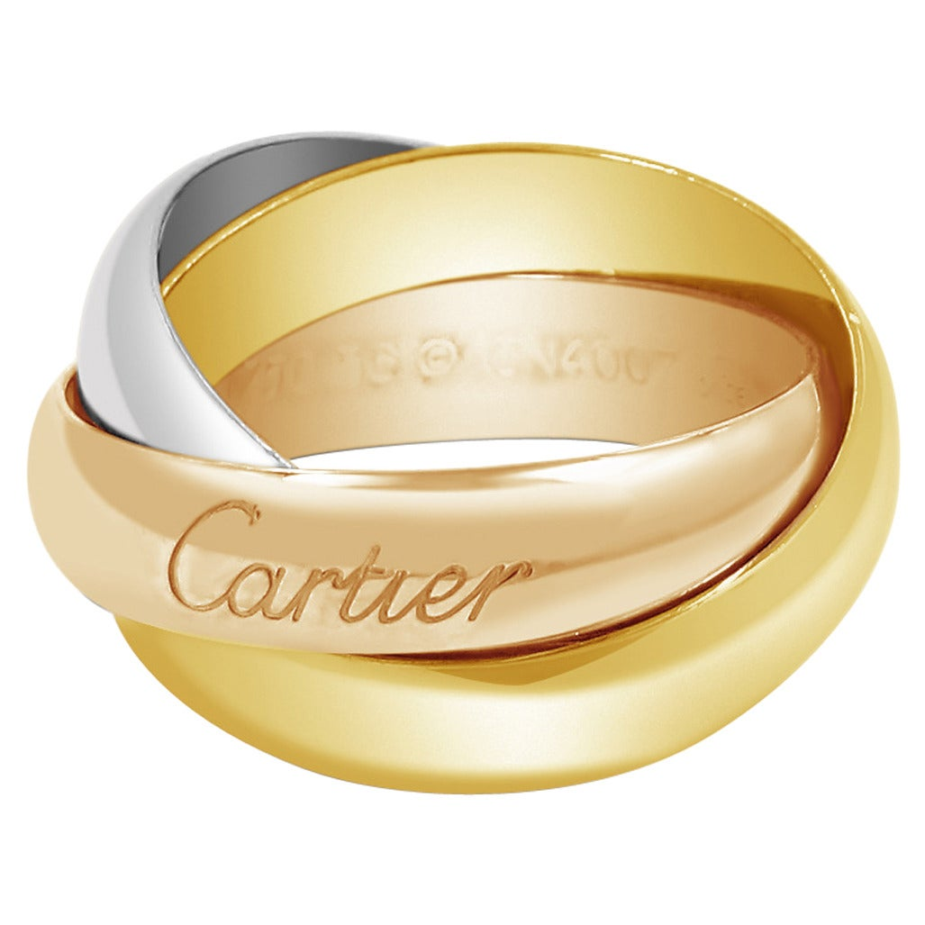 cartier tricolor gold band ring at 1stdibs