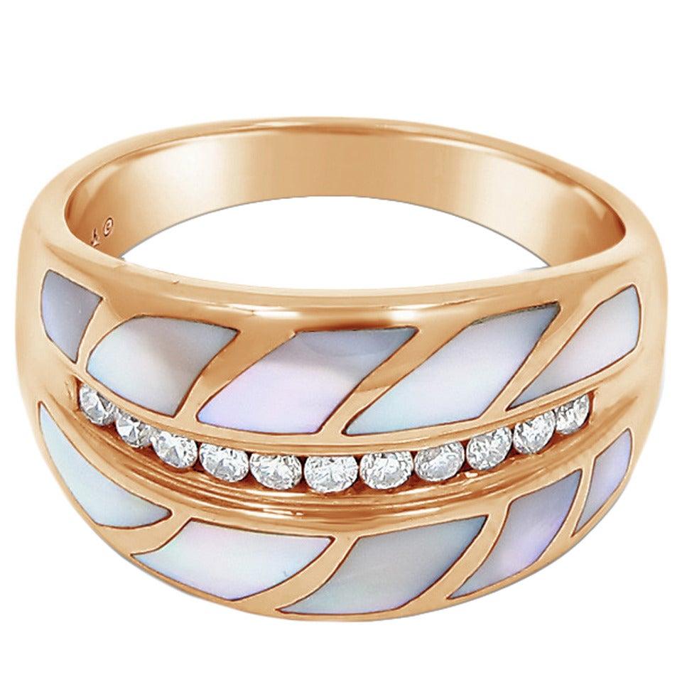 Asch Grossbardt Opal Diamond Gold Ring For Sale