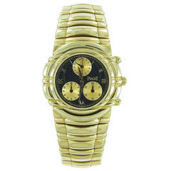 Piaget Yellow Gold Tanagra Chronograph Quartz Wristwatch Ref 564966