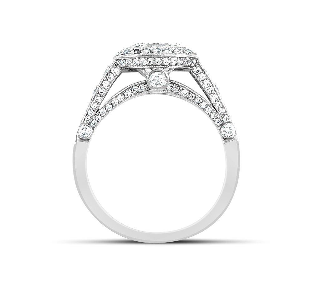 Tiffany and Co 2 51 Carat Cushion Cut Diamond Platinum Engagement Ring at 1s