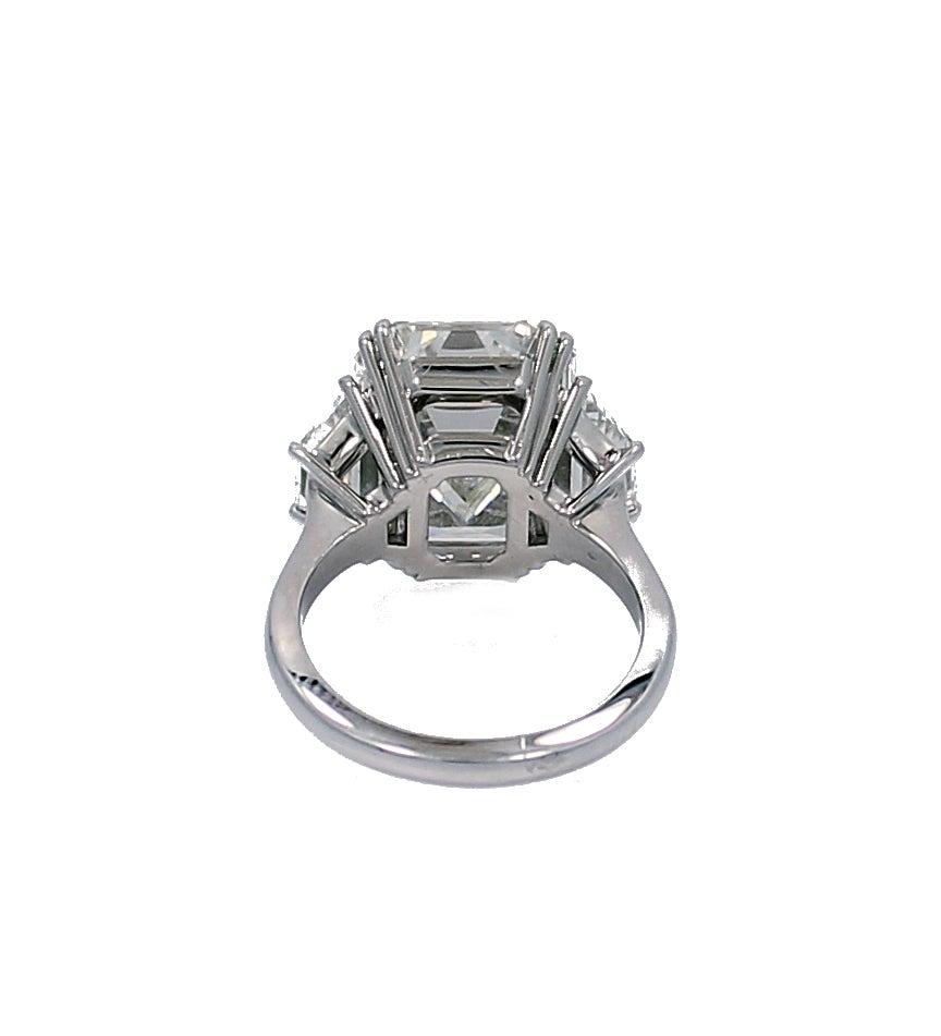 10.07 Carat GIA Report Emerald Cut Diamond Platinum Engagement Ring 3