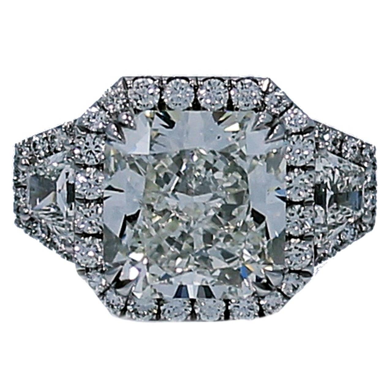 GIA Certified 8.56 Carat Radiant Cut Diamond Engagement Ring