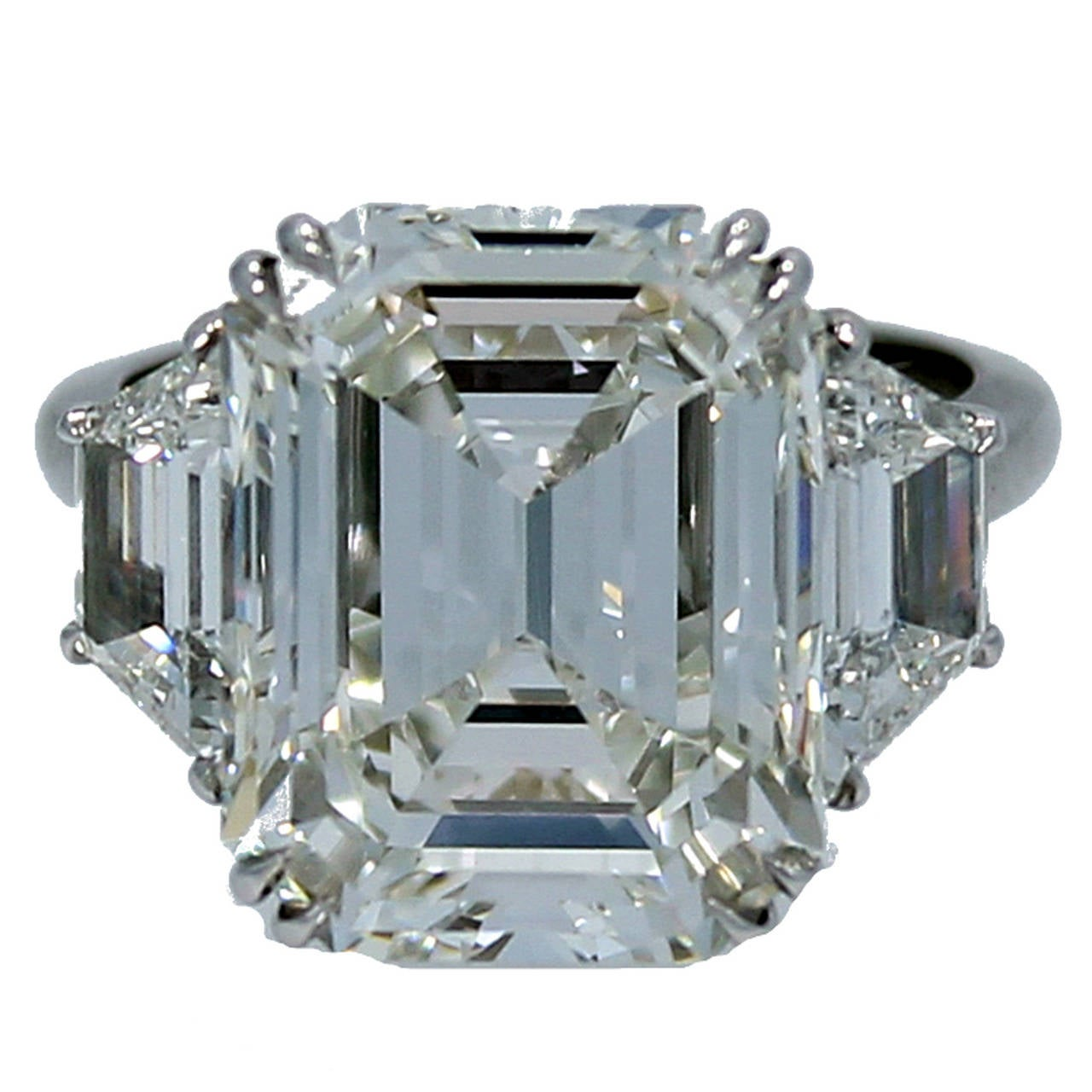 10.07 Carat GIA Report Emerald Cut Diamond Platinum Engagement Ring