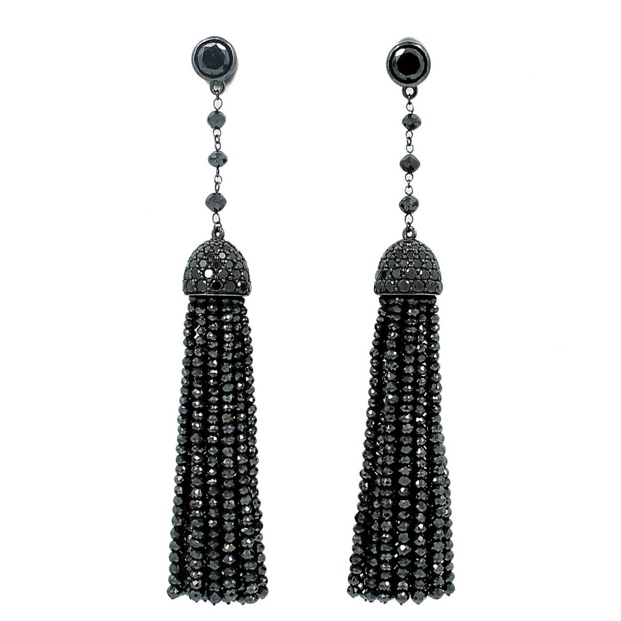 Ivanka Trump Black Diamond Earrings 1