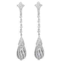 Vintage Diamond Dangle Earrings