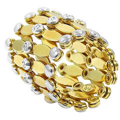 Diamond Gold Expandable Bracelet/Ring