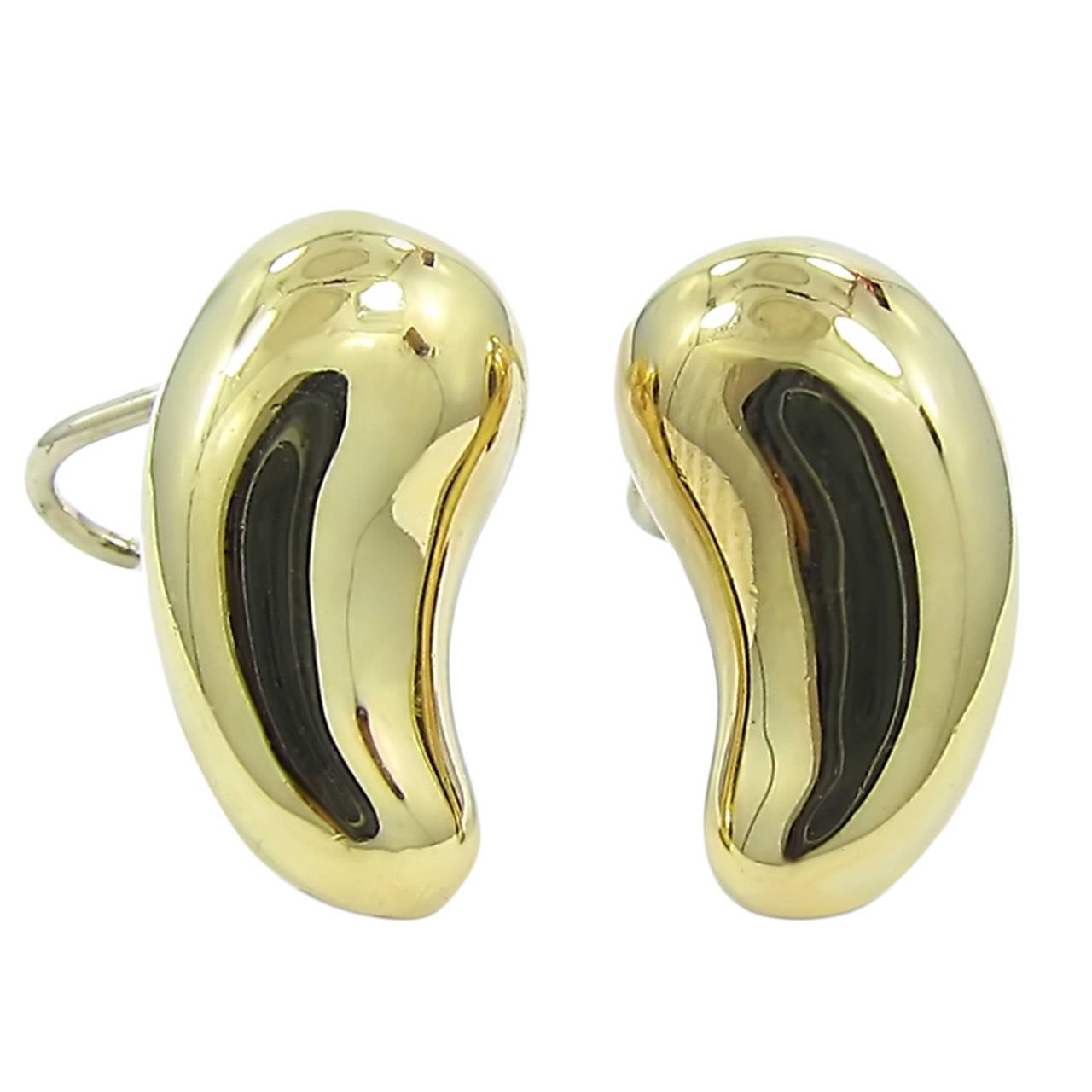 "Tiffany & Co. Elsa Peretti Gold ""Bean"" Earrings"