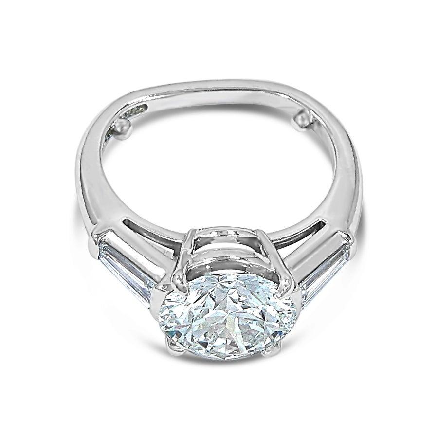 Tiffany and Co 3 37 Carat Diamond Platinum Engagement Ring at 1stdibs