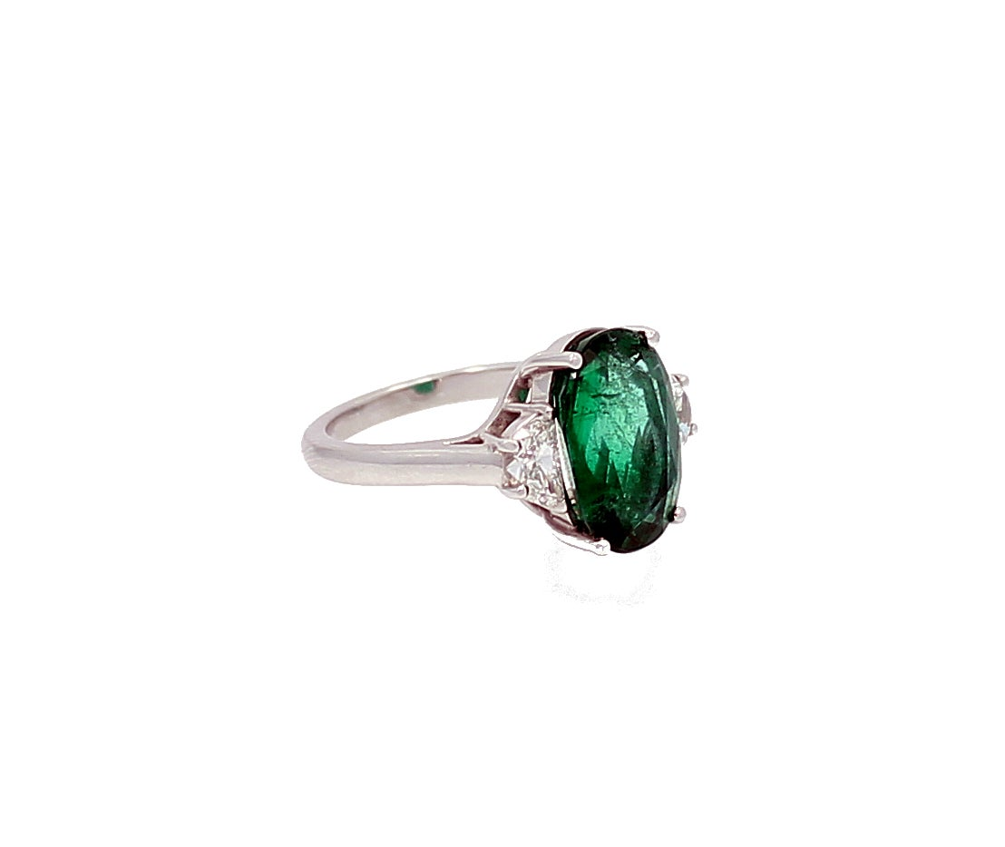 5 86 carat oval emerald ring for sale at 1stdibs