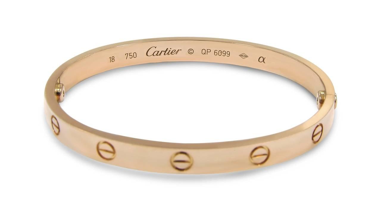 Cartier Rose Gold Love Bracelet at 1stdibs
