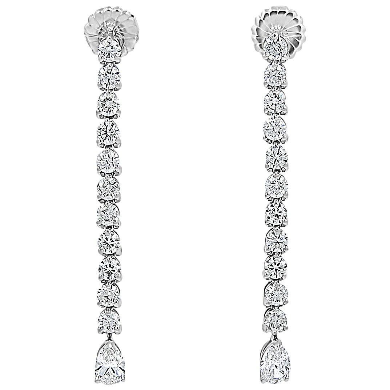 Diamond Gold Dangle Earrings 1