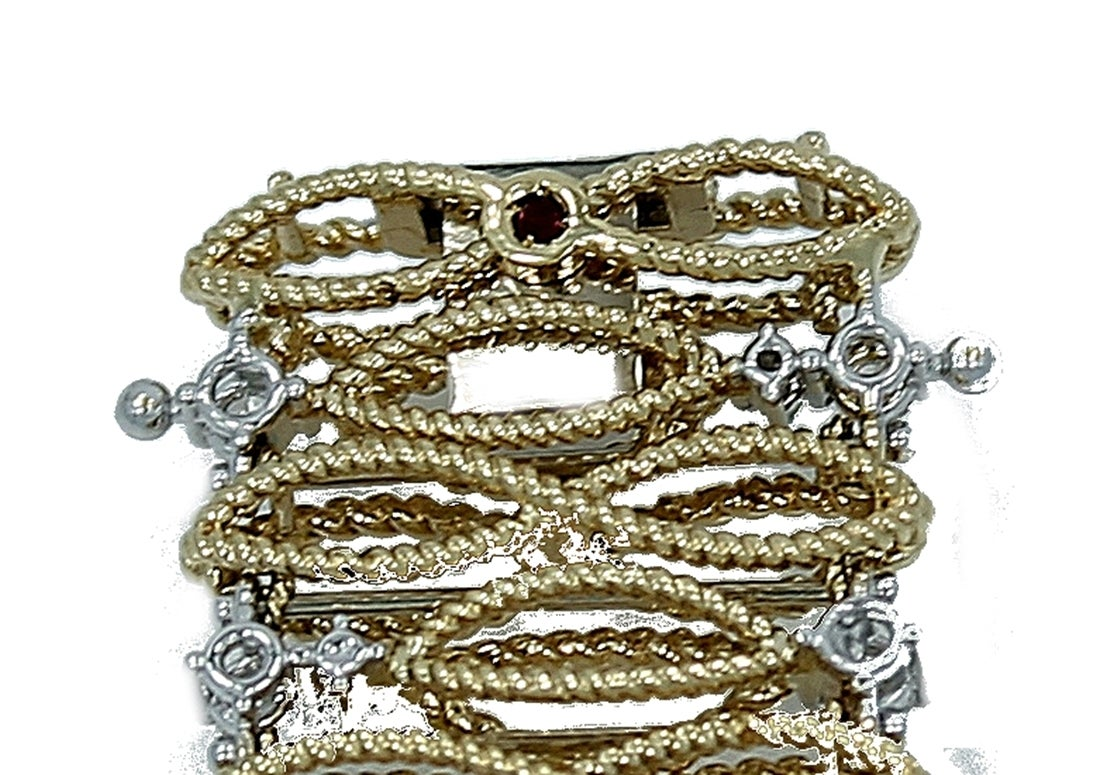 Roberto Coin Diamond Gold Barocco Bracelet For Sale 1