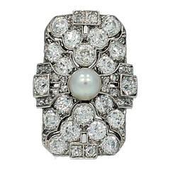 Art Deco Old Mine Cut Diamond Ring