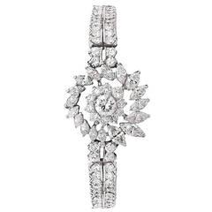Diamond Platinum Link Bracelet