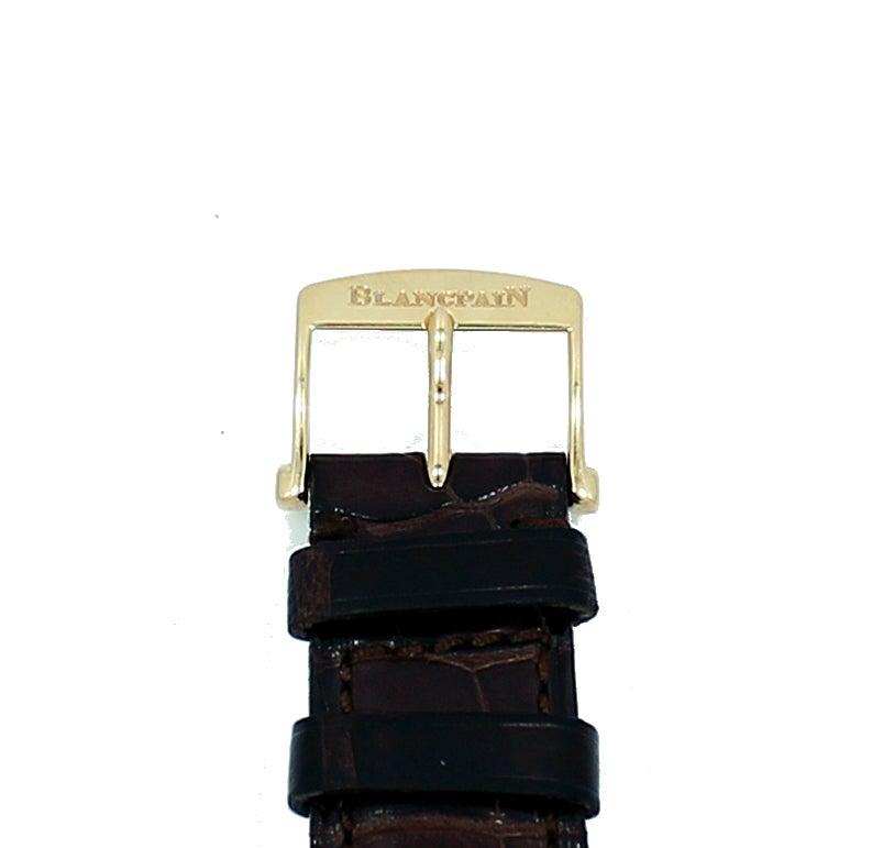 Blancpain Rose Gold Villeret Ultra Slim Dual Time Wristwatch 9