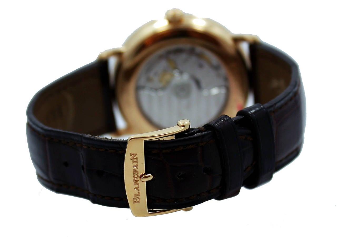 Blancpain Rose Gold Villeret Ultra Slim Dual Time Wristwatch 5