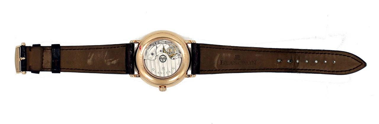 Blancpain Rose Gold Villeret Ultra Slim Dual Time Wristwatch 7