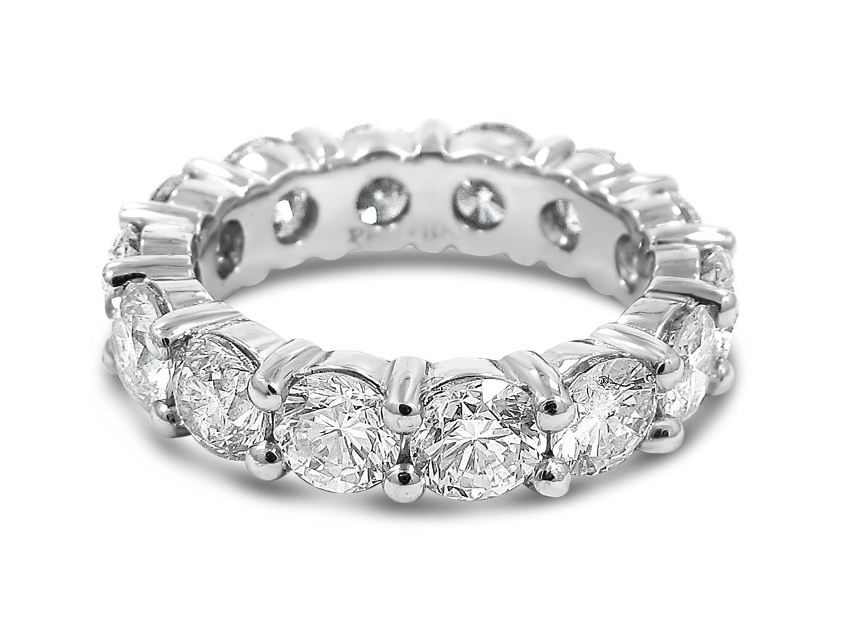 Round Brilliant Cut Diamond Platinum Eternity Band 3