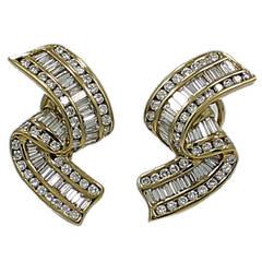 Charles Krypell Diamond gold Earrings