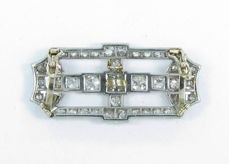 Antique Old Mine Cut Diamond Gold Platinum Slide Pendant  2