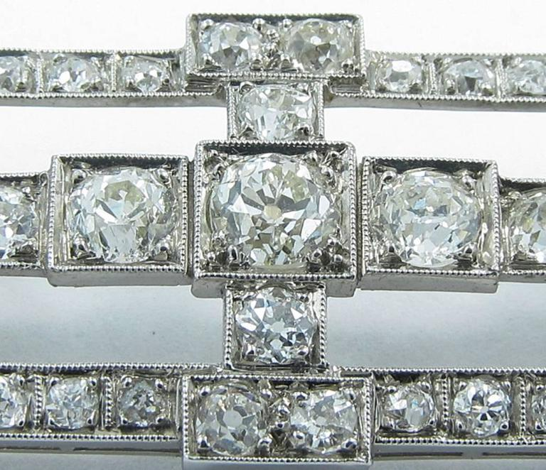 Antique Old Mine Cut Diamond Gold Platinum Slide Pendant  5