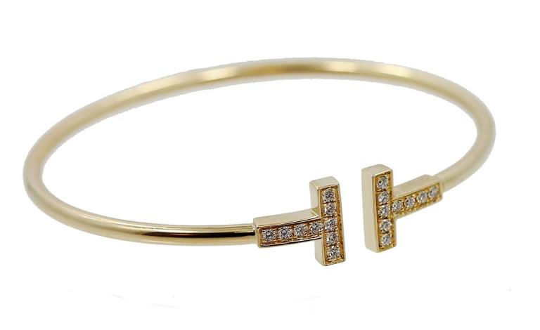 Tiffany & Co. T Diamond Gold Wire Bracelet 2