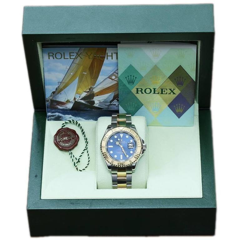 Rolex Yachtmaster Blue Dial 16623 Two Tone 2006 Box and Papers 2