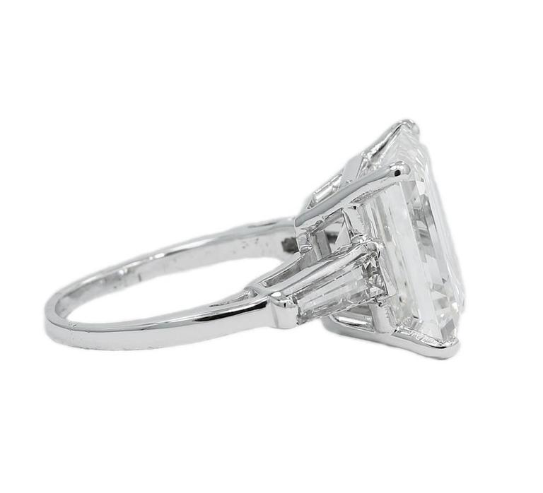 8.25 Carat GIA Emerald Cut Diamond Baguettes Platinum Engagement Ring 3