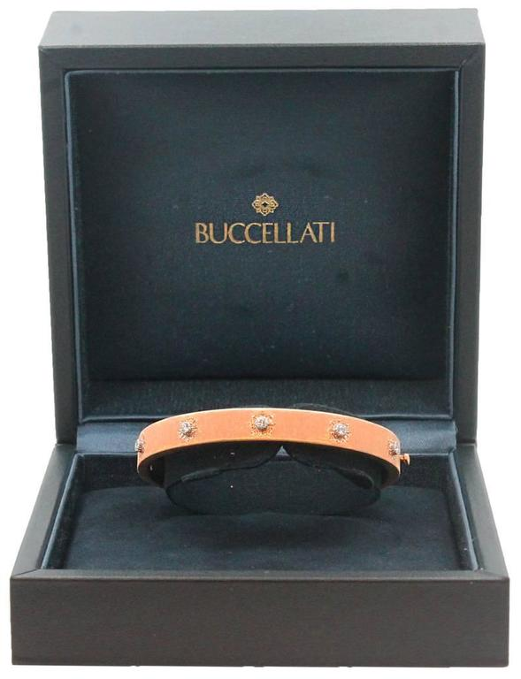18 Karat Rose Gold Buccellati Classica Bangle For Sale 1
