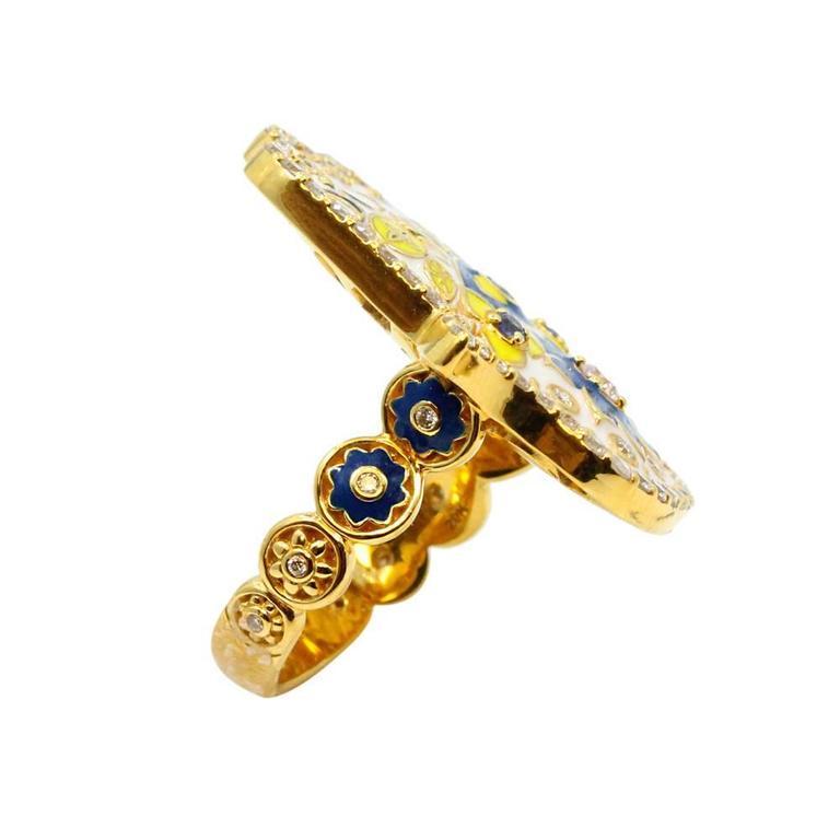 Mama Enamel Ring
