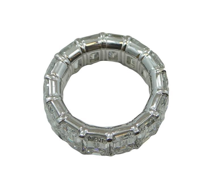 11.18 Carat Radiant Diamond Platinum Eternity Band Ring 3