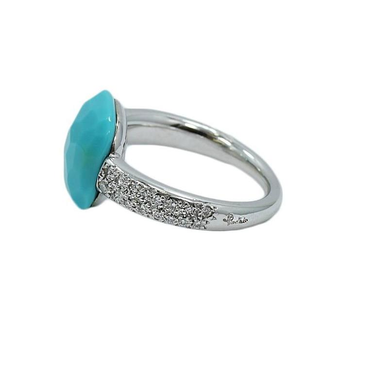 pomellato turquoise white gold ring for sale at