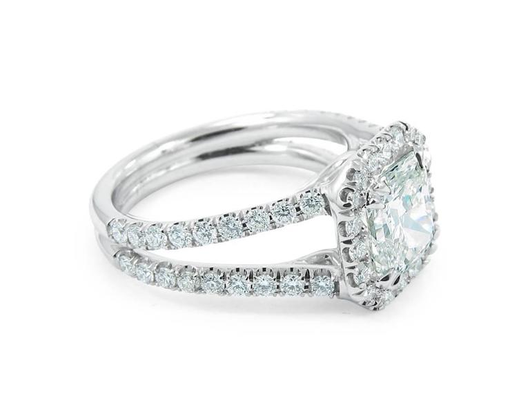 2.01 Radiant GIA Report Diamond gold Engagement Ring 2