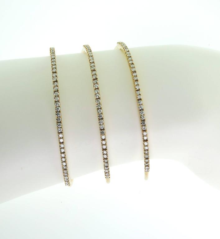 Spiral Diamond Gold Bracelet 2