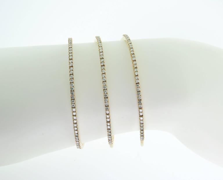 Women's Spiral Diamond Gold Bracelet For Sale