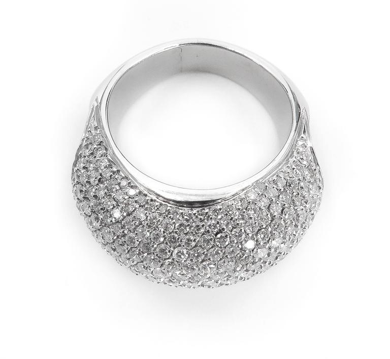 Artist  Diamond Pave Ring For Sale