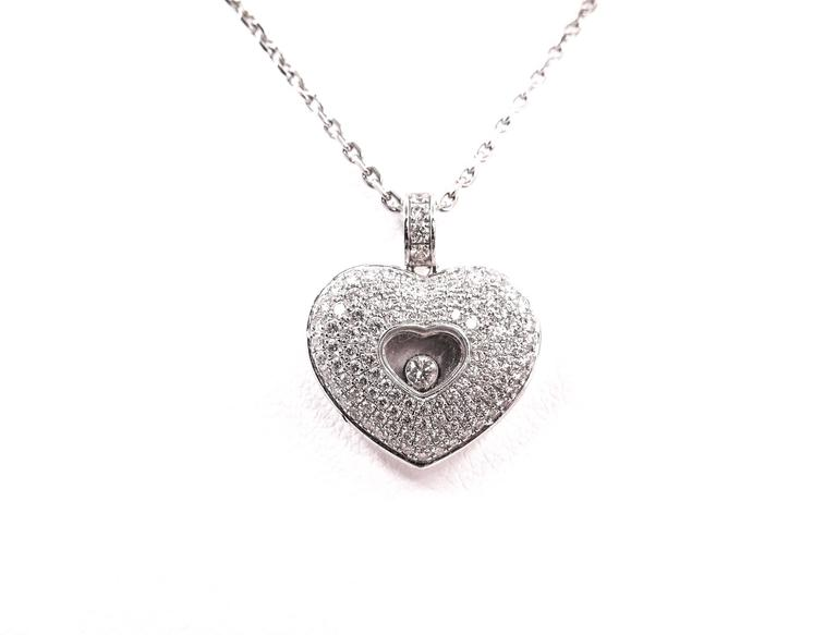 Chopard  Diamond Pave Heart Pendant 3