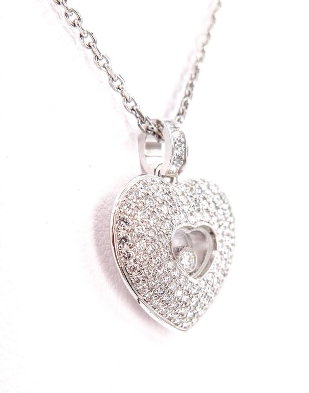 Chopard  Diamond Pave Heart Pendant 4