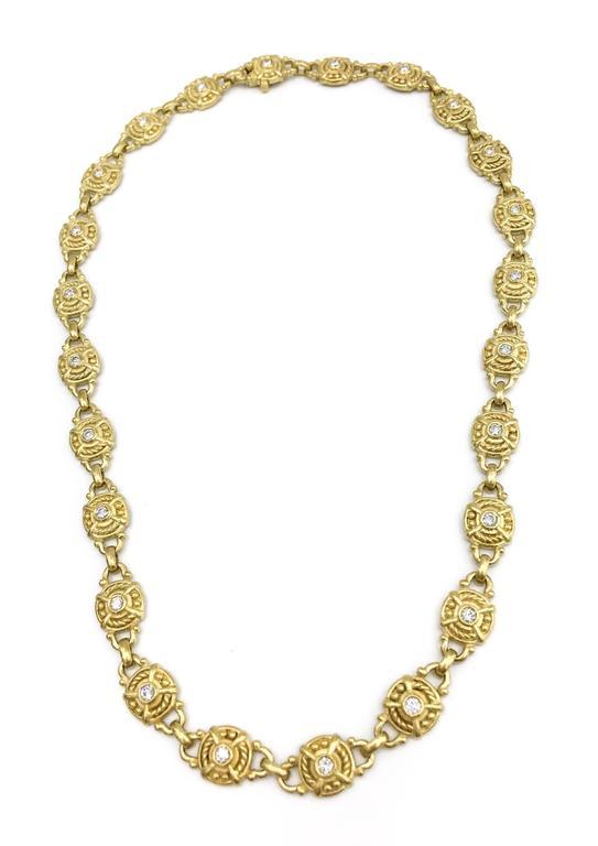 Women's Judith Ripka Diamond Gold Necklace For Sale