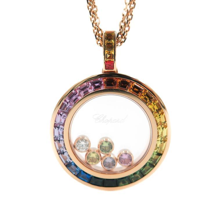 Chopard rainbow happy diamond rose gold pendant for sale at 1stdibs chopard rainbow happy diamond rose gold pendant for sale aloadofball Gallery