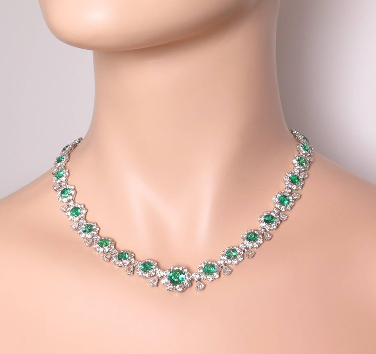 Emerald and Diamond Necklace 7