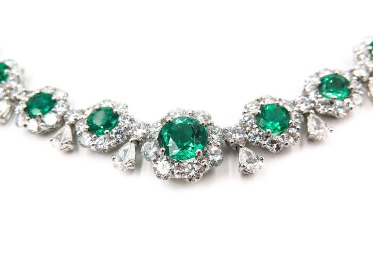 Emerald and Diamond Necklace 2